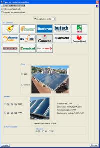 Instalaciones del edificio. Energía solar térmica. Pulse para ampliar la imagen